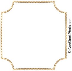 Jewelry Golden Chain of Abstract Shape
