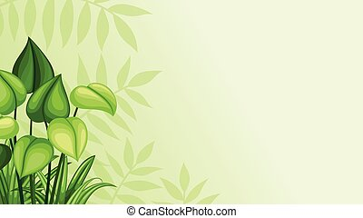 Illustration jungle background