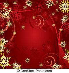 (illustration), kerstmis, snowflakes