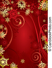 (illustration), kerstmis, snowflakes