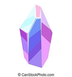 illustration, kristall, mineral., eller