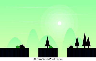 Illustration landscape for game background
