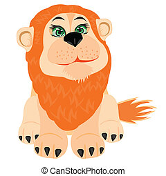 Illustration lion on white background