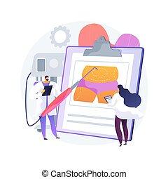 illustration., liposucción, vector, concepto abstracto
