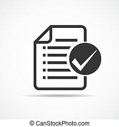 illustration., liste contrôle, vecteur, icon.