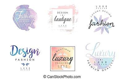 illustration, logo, gabarits, insignes, vecteur, qualité, prime, luxe, boutique, conception, mode, collection