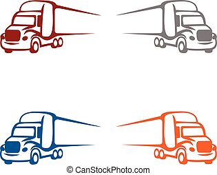 illustration, logo, lastbil
