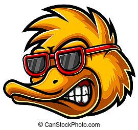 illustration, logo, tête, canard, mascotte