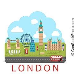 London, England. Urban Background - Illustration London,...