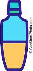 illustration, lotion, contour, vecteur, soin, icône, corps