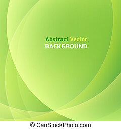 illustration., luz, resumen, fondo., vector, verde