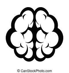 illustration médicale, anatomie, cerveau, dessin animé, humain