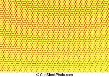 illustration., métal, jaune, hole., vecteur, arrière-plan grille, holed