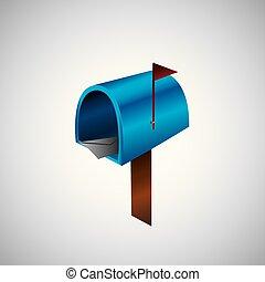 Illustration mail icon. illustration of mailbox. vector illustration