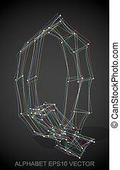illustration, main, multicolore, vecteur, sketched, dessiné, q., 3d