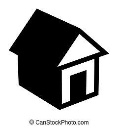 illustration, maison, vecteur
