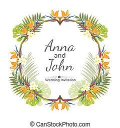 illustration., matrimonio, ornamento, vettore, invito, card.