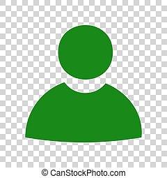 illustration., meldingsbord, donker, achtergrond., groene, ...