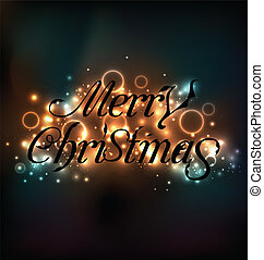 Merry Christmas floral text design