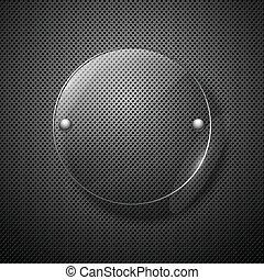 illustration., metaal, abstract, framework., glas, vector, achtergrond