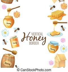 illustration, miel, frontière