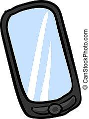 illustration, mobile, arrière-plan., vecteur, téléphone, blanc
