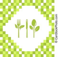 Symbol of Vegetarian Food
