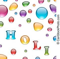 Multicolored Drops for Indian Festival Holi