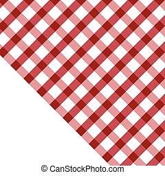 illustration, nappe, blanc rouge