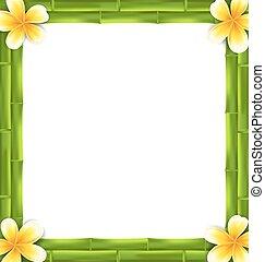 Natural Frame Made Bamboo - Illustration Natural Frame Made ...