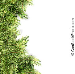 Natural Framework with Fir Twigs - Illustration Natural...