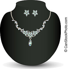 necklace and earrings women's wedding
