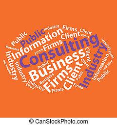 illustration., negócio, texto, concept., tipografia, vetorial, wordcloud., cloud.