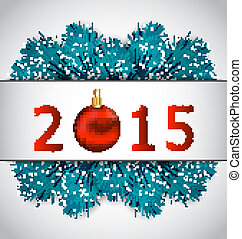 New Year background with fir branches