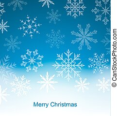 New Year Blue Background with Snowflakes