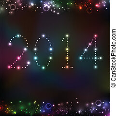 New Year night background with light