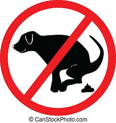 illustration no dog dung