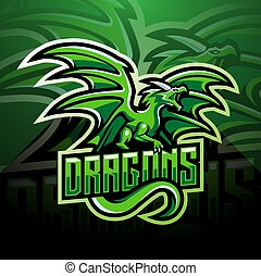 Dragon esport mascot logo design