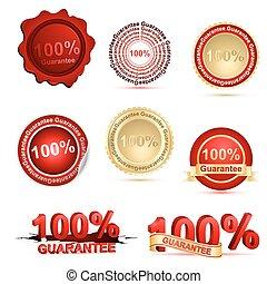 100% guarantee - illustration of 100% guarantee on white...