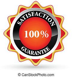 100% satisfaction tag
