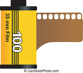 Illustration of 35mm film