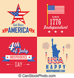 4th of July background - illustration of 4th of July...