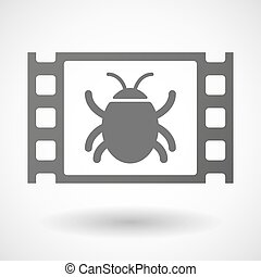 35mm film frame with a bug
