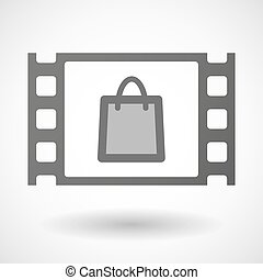 35mm film frame with a shopping bag