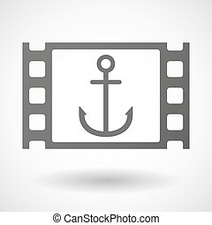 35mm film frame with an anchor