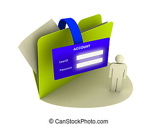 account icon - illustration of a account icon over white