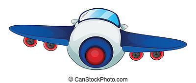 aircraft - illustration of a aircraft on a white background