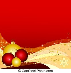 illustration of a background with christmas balls and waves