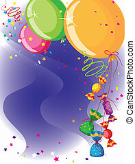 balloons and candy card