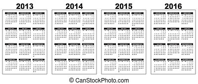 calendar 2013-2014-2015-2016